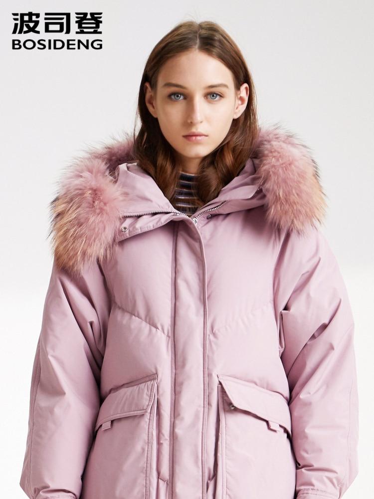 Bosideng Women's Down Jacket Long 2019 New Real Fur Winter Ultra-warm Fashion Coat B90141544DS