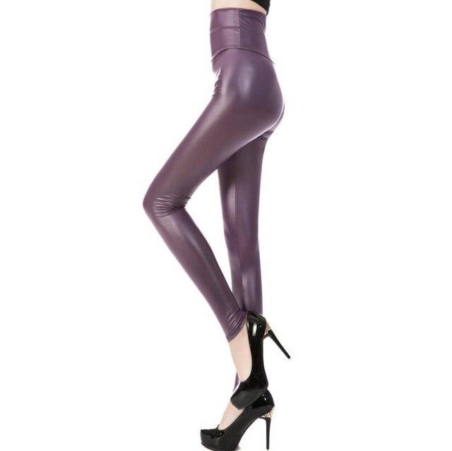 CUHAKCI Legging Free dropshipping Women Hot Sexy Black Wet Look Faux Leather Leggings Slim Shiny Pants Plus size S M L XL XXL 10