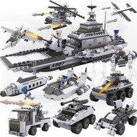 732Pcs Military SWAT Aircraft Carri Building Block Bricks Models Military Ship DIY Boys Gifts Kids Toys