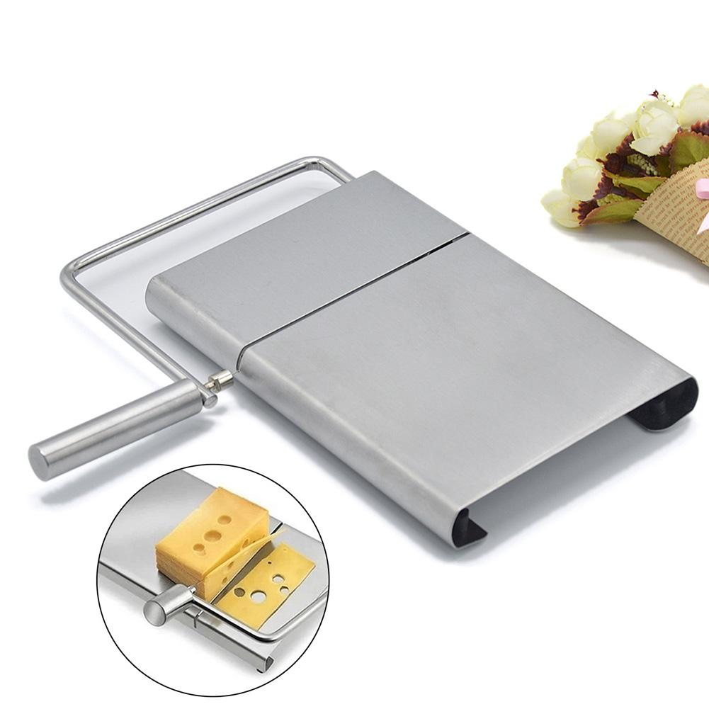 Stainless Steel Wire <font><b>Cheese</b></font> Butter Slicer Cutter <font><b>With</b></font> Cutting <font><b>Board</b></font> Cloth <font><b>Cheese</b></font> <font><b>Knife</b></font> Cooking Baking Tools Kitchen Accessories image