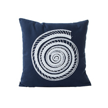 home dec dark blue embroidery cushion covers 45x45cm no inner square cotton canvas special seat sofa pillow X115
