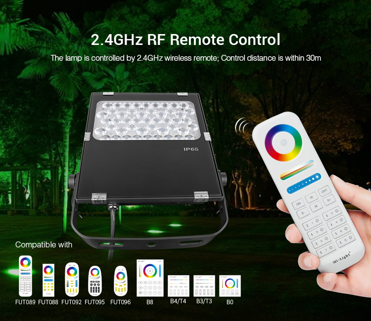 Miboxer LED Tuin Licht AC100 ~ 240V Groene ruimte/Park/road/decoratie smart Outdoor licht lamp waterdichte IP65FUTC06 50W RGB + CCT - 3
