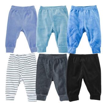 Spodnie chłopięce ubrania jednolity niebieski legginsy na co dzień 6 sztuk aksamitna niemowląt noworodka dla dzieci spodnie dla chłopca i dziewczynki śliczne ciepłe PP spodnie spodnie tanie i dobre opinie KAVKAS CN (pochodzenie) Unisex W wieku 0-6m 7-12m Stałe Luźne velvet baby pants COTTON Poliester Pasuje prawda na wymiar weź swój normalny rozmiar