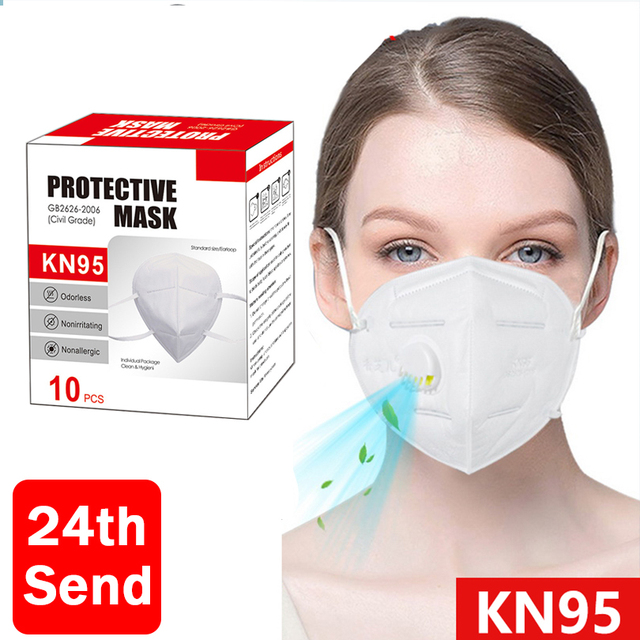 KN95 With Breathing Valve mask respirator defense spray air mask with filter face protection Anti Flu Dust Pollution Particulate 1