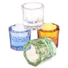 1Pc acrylique ongle tasse cristal clair bol acrylique poudre liquide support Dappen plat Salon équipement Nail Art conception outil