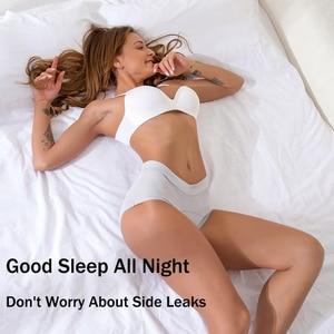 Image 3 - L 5XL Ondergoed Vrouwen Lekvrije Menstruatie Slipje Katoen Antibacteriële Fysiologische Slipje Hoge Taille Vorm Slips Lingerie