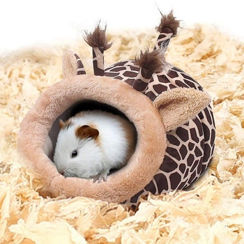Pet Warm Bed Chinchilla Hedgehog Guinea Pig Bed Accessories Cage Toys Small Animal House Hamster Supplies Habitat Ferret Rat Nes 4