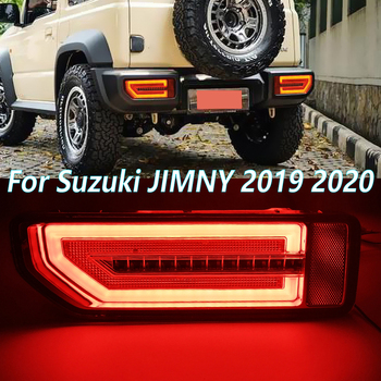 1 Pair Car LED reflector Tail Lamp Taillight Rear Lamp Parking Brake light Flow Turn Signal For Suzuki JIMNY 2019 2020