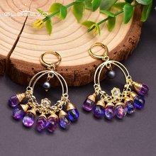 Glseevo естественного фиолетового цвета с украшением в виде