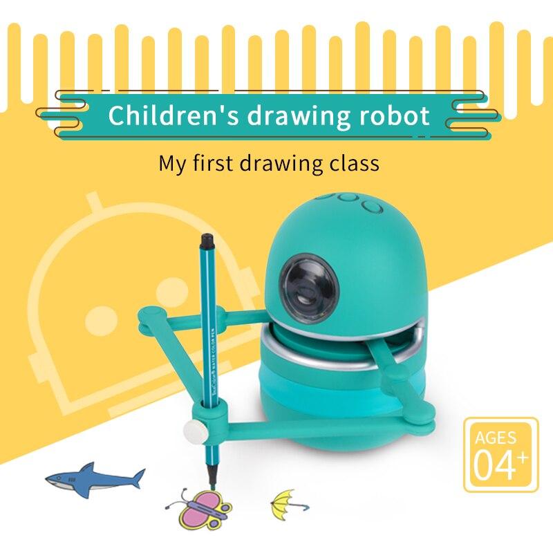 LANDZO Quincy популярный волшебный Q-робот для рисования, игрушки для детей, студенческий обучающий инструмент для рисования для мальчиков и дево...