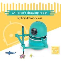 Landzo Magic Q Рисование робот игрушки развивающие игрушки для детей, студентов обучение Рисование инструменты робот головоломка игрушки