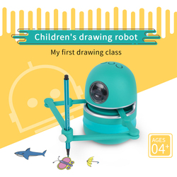 Small Magic Q Draw Robot Toys for Kids Students Learning Draw Toys Boys Girls Toys