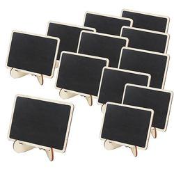 Mini drewniane oprawione numer tabeli tablica znaki z podstawą  opakowanie 12 na