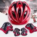 7 шт./компл. велосипедный шлем для детей  Балансирующий велосипед  роликовый колено  локоть  запястье  скейтборд  шлем  коврик 2018  велосипедны...