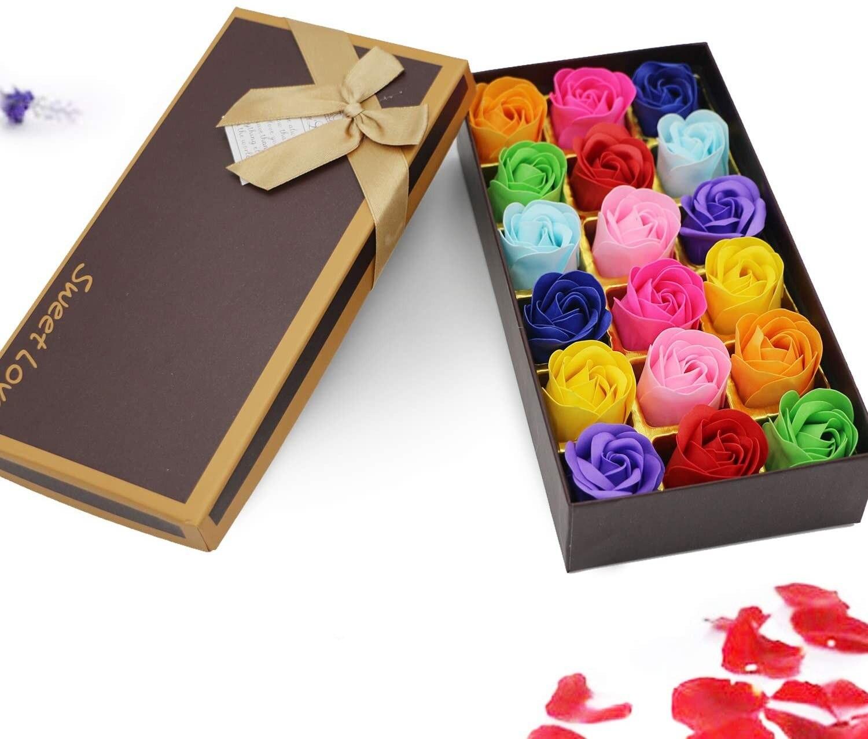 18 pçs scented rosa flor pétala banho corpo sabão festa de casamento presente do dia dos namorados decoração de casa segurando flores flor de jabon|Flores secas artificiais|   -