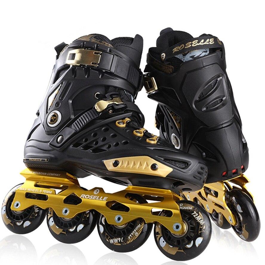 Advanced Adult Roller Skates Professional Skating Inline Skates Shoes 4 Wheels Size 36-44 Women Men Roller Skates