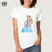 Women 2019 Summer Graphic Tee Shirt Femme Funny Princess Vogue Harajuku T Shirt Korean Tops Kawaii цена