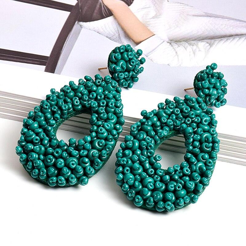 New Arrival Water Drop Shape Earring Fine Jewelry Gift For Women Bohemian Ethnic Handmade Beads Earrings Accessories Wholesale