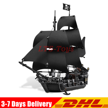 IN Stock  16006 804pcs Pirates of The Caribbean Black Pearl Dead Ship Model Builidng Blocks Brick Toys Gifts  4184 1