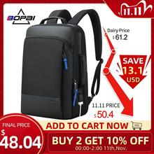 Bopai 2020 Rugzak Mannen Vergroten Anti Diefstal Business Rugzak Voor 15.6 Inch Laptop Zwart Back Pack School Backpacken