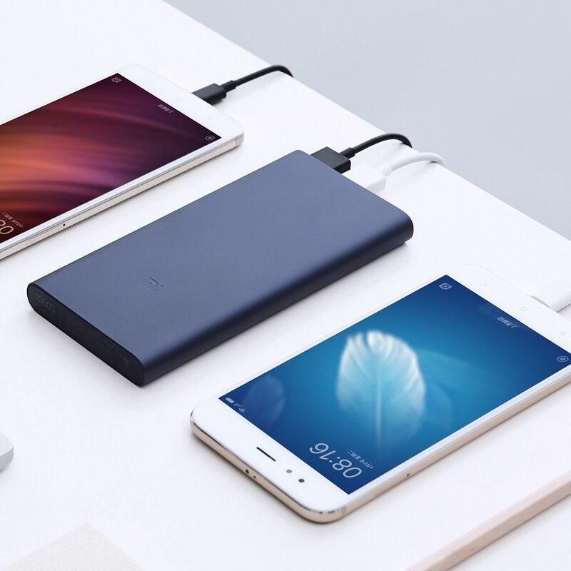 Nieuwe Xiaomi Mi Power Bank 2 10000 Mah Redmi Power Bank Dual Usb-poort Snel Opladen Powerbank Ultra-Dunne externe Batterij Opladen 5
