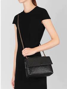 Woven-Bag Sheepskin Single-Shoulder-Bag Internal Genuine-Leather Women's High-Quality