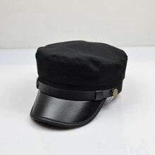 Large size navy cap small head flat hat cotton PU brim army hat big bone men plus sizes military caps 54cm 56cm 57.5cm 59cm 62cm