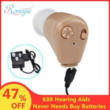 Цифровой перезаряжаемый слуховой аппарат, Прямая поставка, усилитель звука, слуховой аппарат, мини невидимый слуховой аппарат для пожилых людей