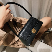 Textured Handbags 2019 New Small Group Of Crocodile Pattern Under The Small Square Package Tide Fashion Handbag Messenger Bag new spring atmosphere crocodile pattern bag women s simple fashion shoulder messenger bag leisure wild small square package tide
