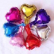 wedding pentagram balloon small peach heart love aluminum film foil balloons birthday party decorations 5pcs/lot 5 Inch