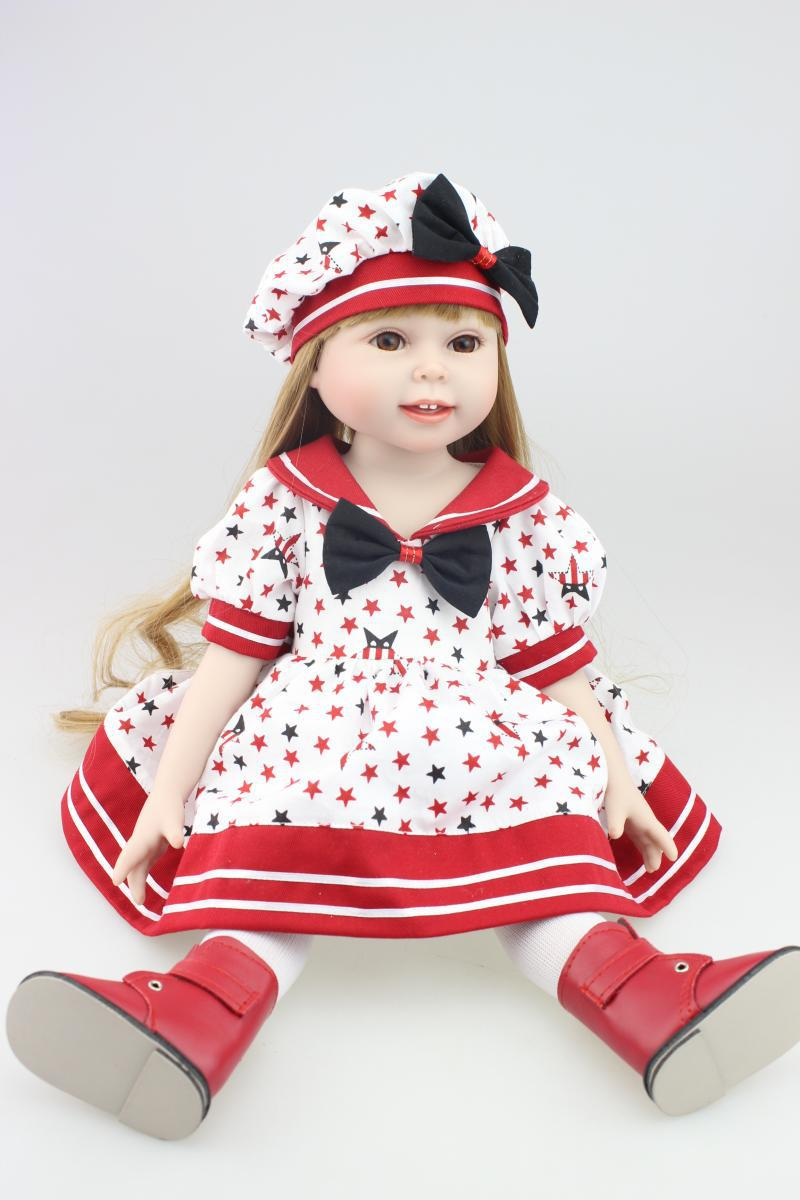 Toddler Girl Dolls with Taiwan acrylic eyes - 45cm
