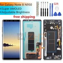 삼성 갤럭시 노트 8 N950F N950D N950DS N950U Lcd 디스플레이 터치 스크린 디지타이저 어셈블리 삼성 Note8 lcd 용 프레임