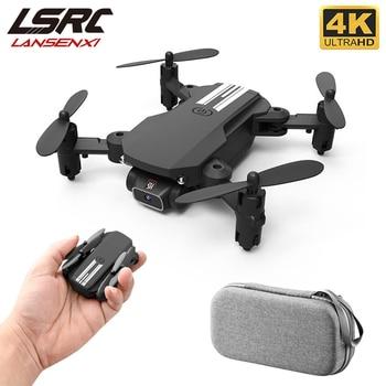 LSRC 2020 New Mini Drone 4K 1080P HD Camera WiFi Fpv Air Pressure Altitude Hold Black And Gray Foldable Quadcopter RC Dron Toy