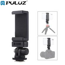 PULUZ 1/4 inch Screw Thread Cold Shoe Tripod Mount Adapter with Phone Clamp