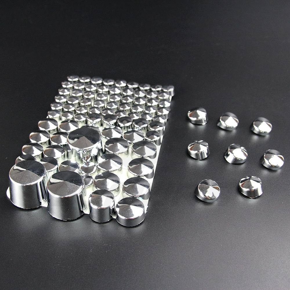 Image 2 - OUMURS 87pcs Motorcycle Chrome Screw Bolt Topper Caps Nut Cover Black ABS For Harley Softail Twin Cam 1984 2006 Moto AccessoriesNuts & Bolts   -