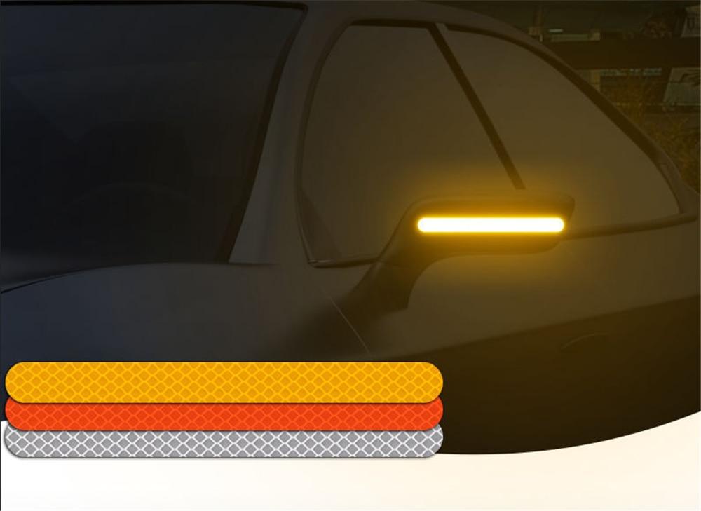 2PCS adesivo Auto specchietto retrovisore riflettente striscia di ricambi Auto per Fiat Punto Palio Uno Idea Bravo Sedici Grande