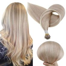 VeSunny I Tip Remy Human Hair Extensions Pre Bonded Hair Extensions Blonde Highlighted I tip Extensions Human Hair Keratin Hair