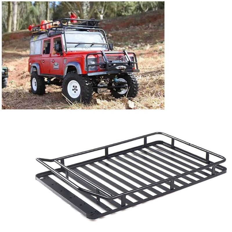High Quality New 1 10 Luggage Carrier Metal Cars With LED Light Parts Roof Rack Toys for SCX10 D90 in Parts Accessories from Toys Hobbies