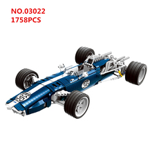 New Hot Technic Series The F1 Blue Racing Car Model kids Toys Building Blocks Sets Bricks Educational For Children gift