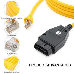 Image 3 - Quality E SYS ENET cable for BMW F series ICOM OBD2 Coding Diagnostic Cable Ethernet to ESYS Data OBDII Coding Hidden Data Tool