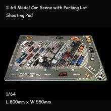 Tapis de souris jouet pour Parking, modèle de véhicule de voiture, affichage de scène, grand Garage, tapis de souris, Table d'exposition, 1/64