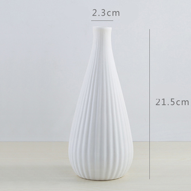 Nordic Modern Simple Ceramic Vase Tabletop Black White Dried Flower Containers Home Decor Desktop Decorative Vase  Wedding Gifts 6