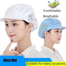 Elastic Mesh Visors Caps Cafe Bar Kitchen Restaurant Hotel Chef Uniform Waiter Work Wear Hats Men Women Breathable Workshop Caps