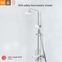 Diiib dabai домашняя безопасная термостатическая ручная душевая головка набор из нержавеющей стали 6 режимов кран душевой шланг подъемный стерж...