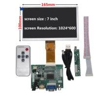 7 дюймов ЖК-дисплей Экран Дисплей для контроля уровня сахара в крови с дистанционным драйвер Управление доска 2AV HDMI VGA для Raspberry Pi банан/оранж...