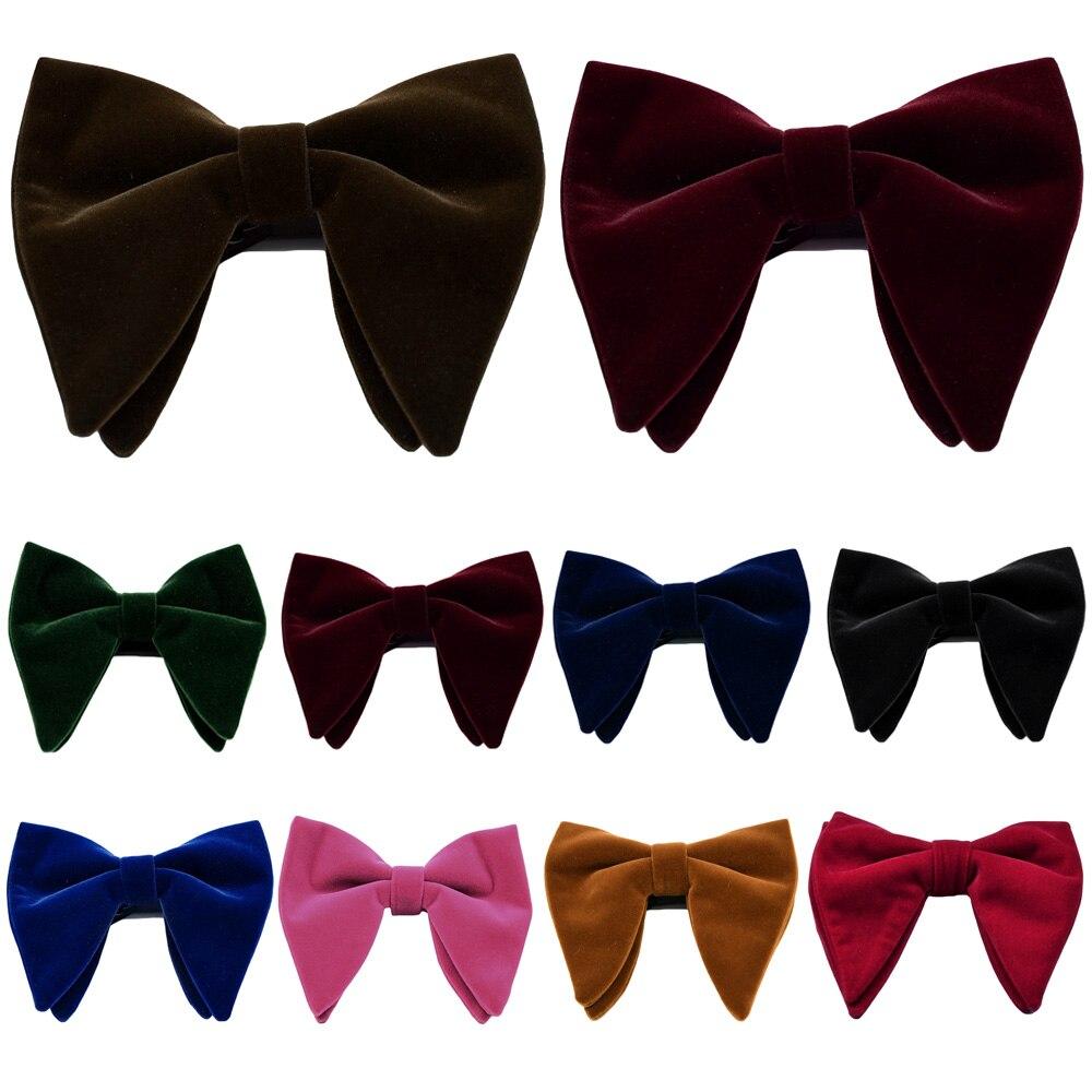 Мужской бархатный большой галстук-бабочка большого размера, свадебный смокинг, деловой Официальный галстук-бабочка