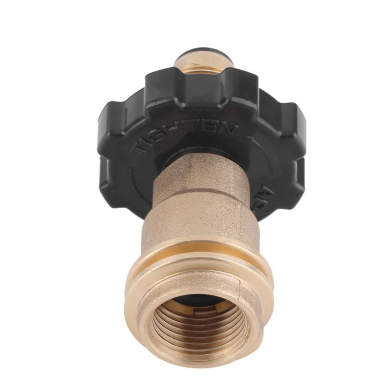 50LB Gas Cylinder Pressure Reducing Valve Adapter Universal Fit Propane Gas Tank Adapters LPG Flat Tank Pressure Valve Connector