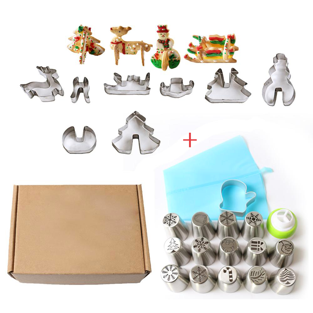 25Pcs-Christmas-Nozzles-Cutters-Set-Icing-Piping-Tips-Cookie-Cutter-Mold-Pastry-Converter-Bags-Cupcake-Cake