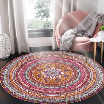 2020 marca casa habitación alfombras y alfombras estampado de flores Mandala étnica...