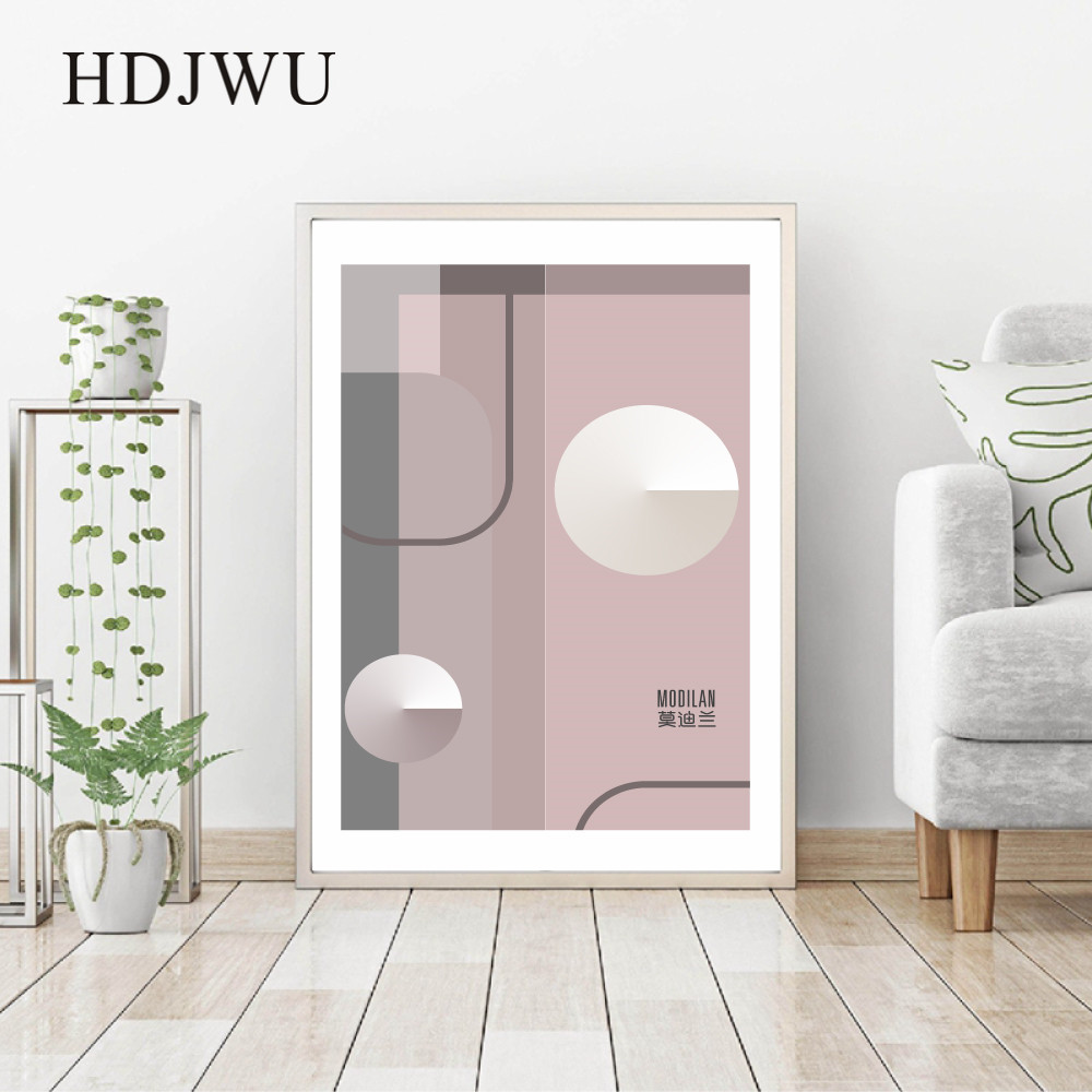 Nordic Canvas Home Painting Wall Picture Creative Geometry Printing Posters Wall Pictures for Living Room DJ511 in Painting Calligraphy from Home Garden